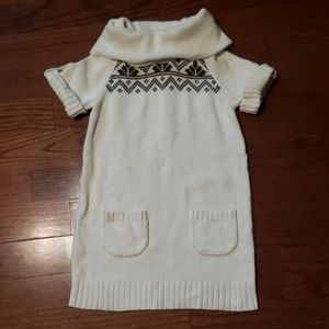 Gymboree size 7/8 cream and brown sweater dress
